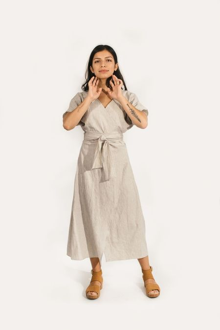 Two Fold Clothing Cotton/Linen Short Sleeve Clara Dress