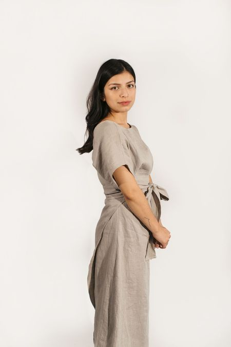 Two Fold Clothing Linen Short Sleeve Clara Dress