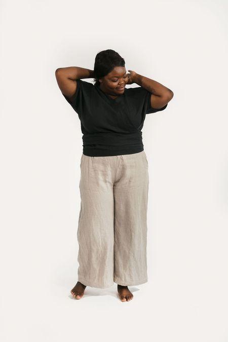 Two Fold Clothing Linen Short Sleeve Clara Top