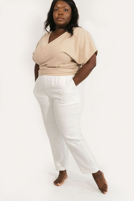 Two Fold Clothing Raw Silk Short Sleeve Clara Top