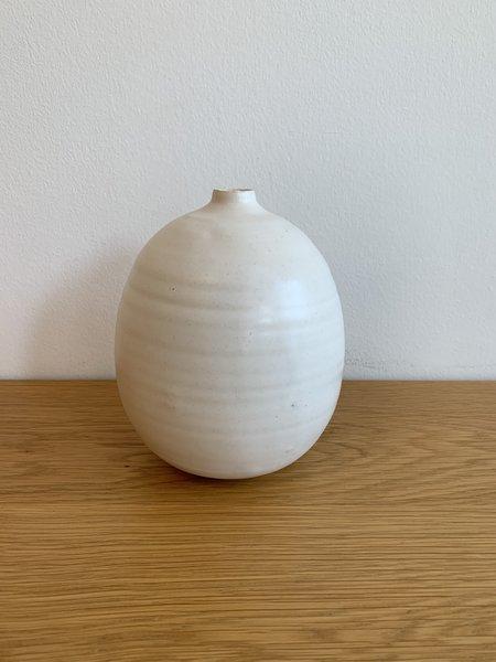 Judy Jackson Round Vase - White