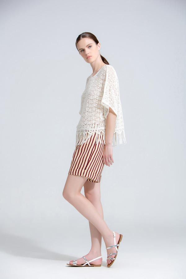 The Korner Crochet Sheer Top with Fringe