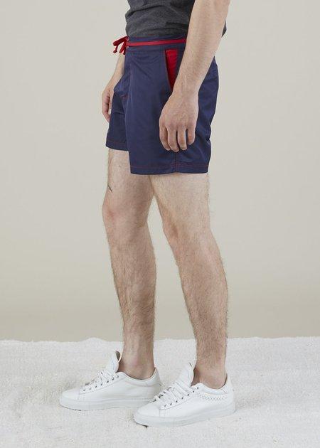 Bluebuck Classic Swim Shorts - Navy/Red