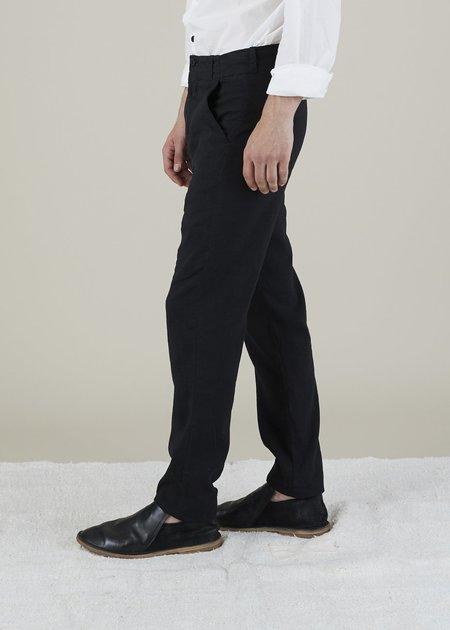 Hannes Roether Linen Blend Track Pant - Black