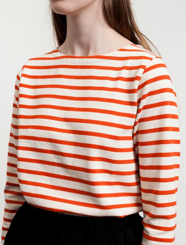 Norse Projects Inge Stripe Ecru/Orange