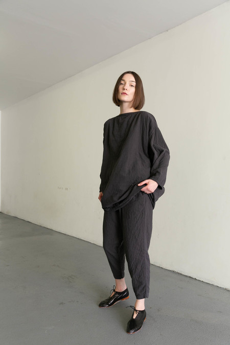 BLACK CRANE CARPENTER PANTS - CHARCOAL