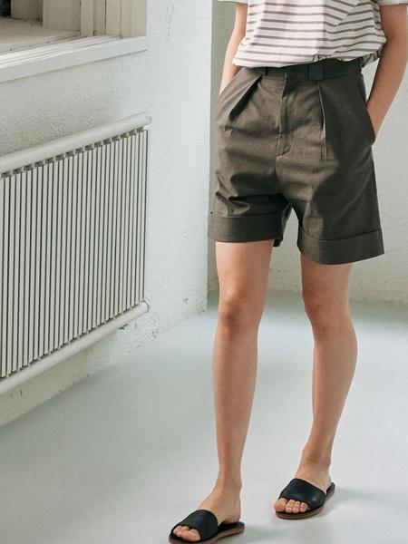 Facade Pattern Everyday Summer Shorts - Khaki Gray