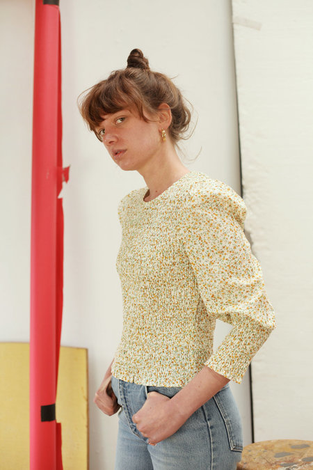 MEADOWS Rose Top - Yellow