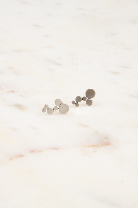 Jane Diaz NY Sterling Silver Bubble Studs