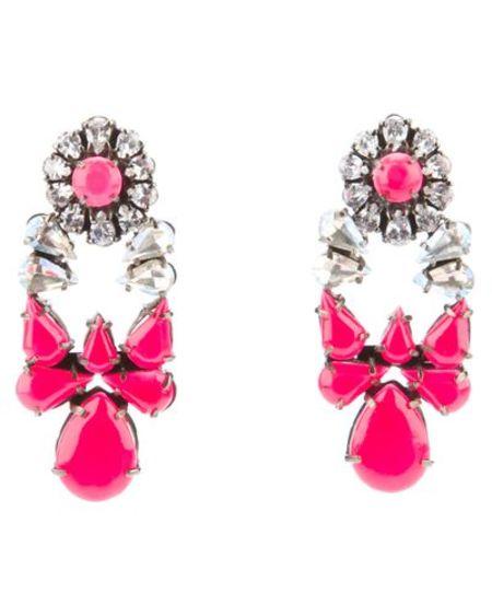 Shourouk drop earrings - neon pink