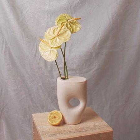 Summer School Sculptural Ikebana Vase - Matte White