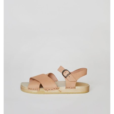 NO.6 COCO CROSS FRONT CLOG - NAKED