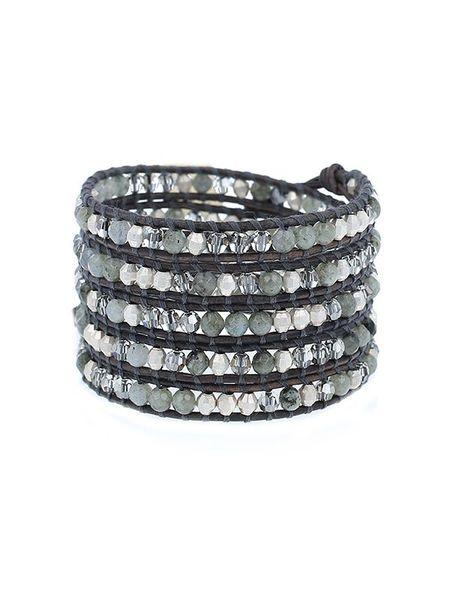 Chan Luu bracelet -  labradorite mix/silver nuggets