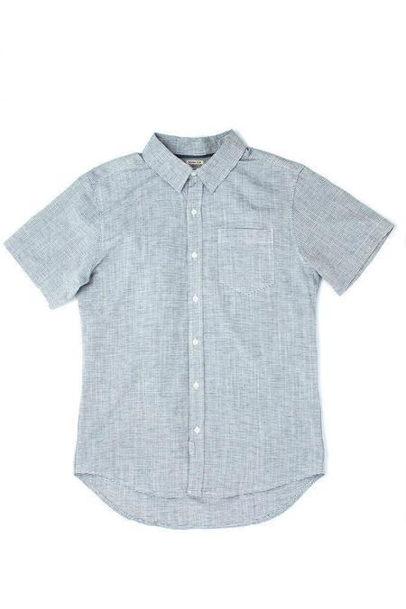 Bridge & Burn Harbor Shirt - Navy Blue Stripe