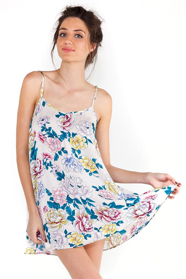 Mink Pink Bedtime Blooms Swing Dress