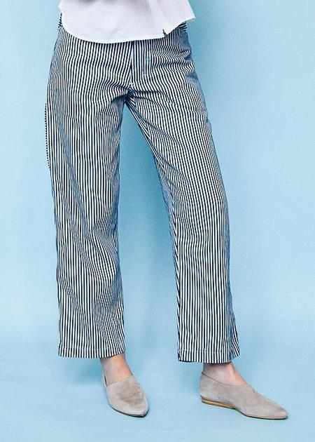 Gravel & Gold Painter Pant - Conductor Stripe