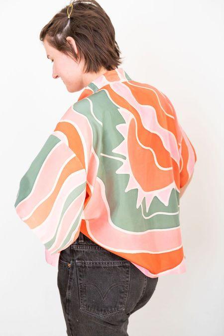 3rd Season Designs Hand Painted Silk Kimono - multi