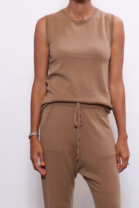Nili Lotan Muscle Tee Sweater - Camel