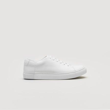 THEY Two-Tone Low Sneaker - Mono White