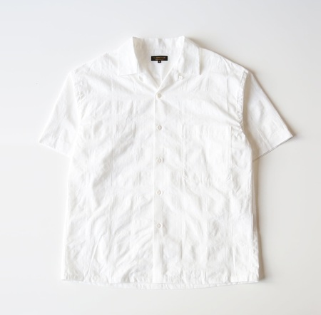 A VONTADE S/S Lax Open Shirt - White