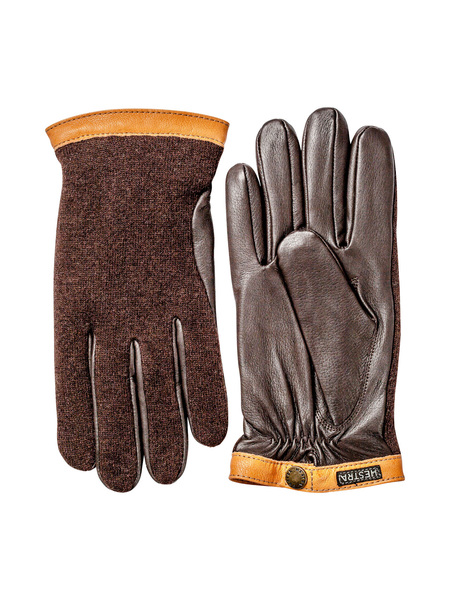 Hestra Deerskin & Wool Tricot Gloves - Espresso