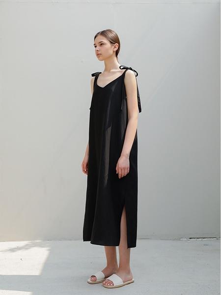 HUMANGALLERY Linen Sundress - Black