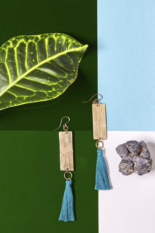 Geography 541 Lele Drop Earrings- Turquoise