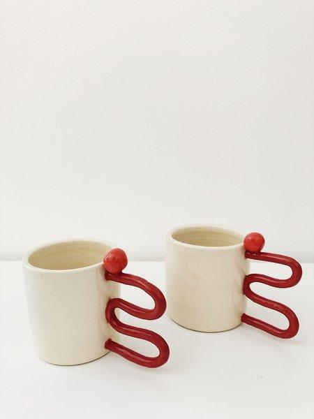 HEO Ceramics SQUIGGLES MUG - Terracotta