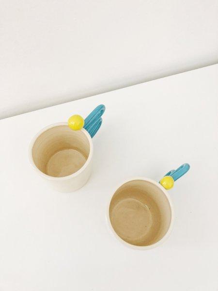 HEO Ceramics SQUIGGLES MUG - BLUE