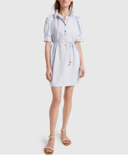 Apiece Apart Sabina Mini Dress - Lavender