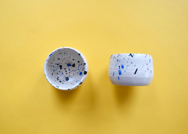 Red Planet Pottery: Pair of Splatter Cups