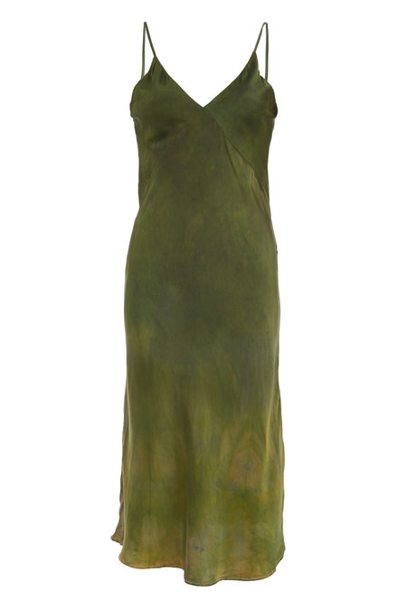 SVNR MIDI SLIP DRESS - FOREST
