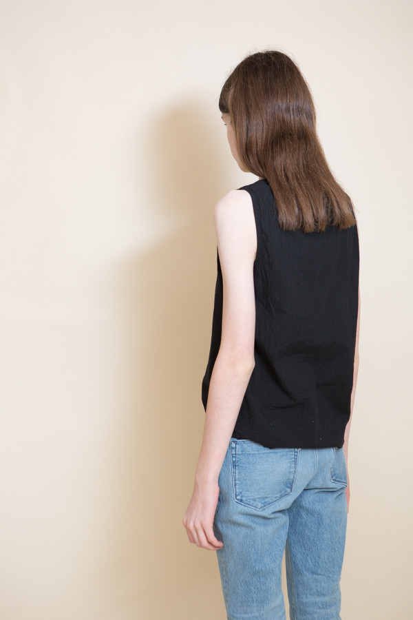 Uzi NYC Woven Cotton Tank / Black