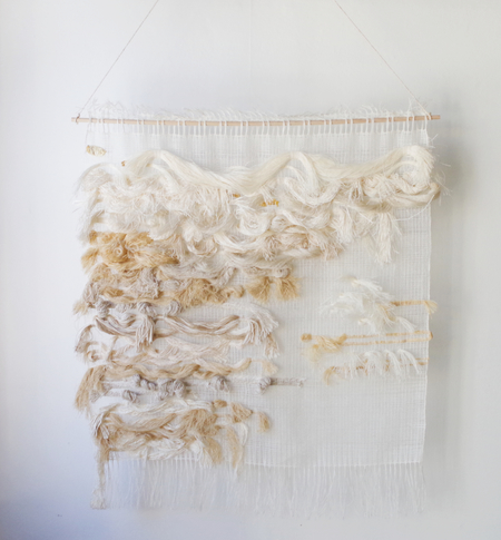 Ana Isabel Textiles HAND WOVEN WALL HANGING - CREAM/BEIGE