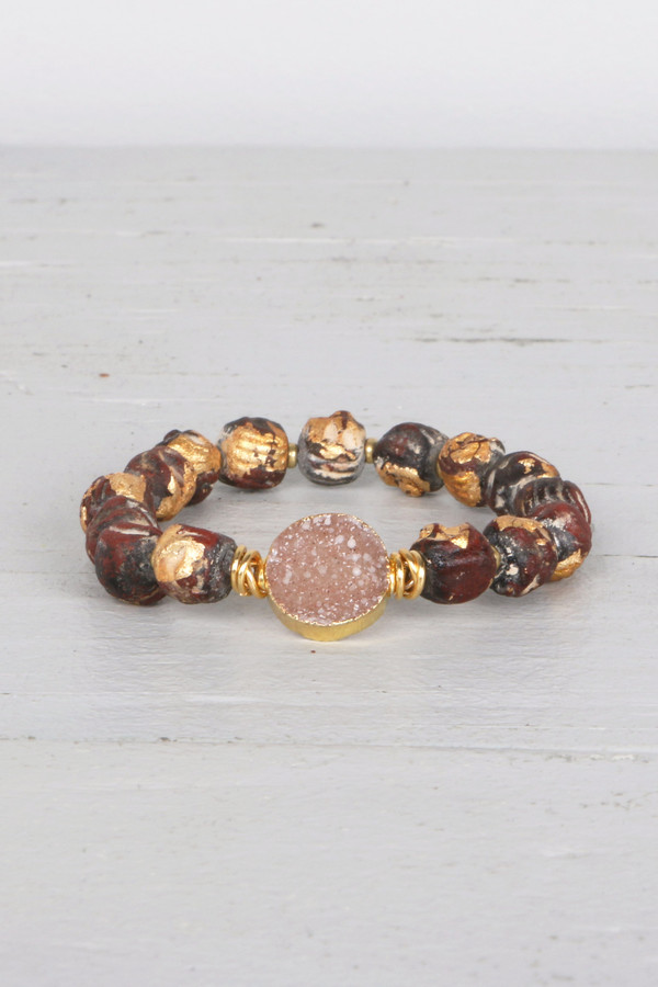 Mickey Lynn ML8013 Tibetan Bead Bracelet