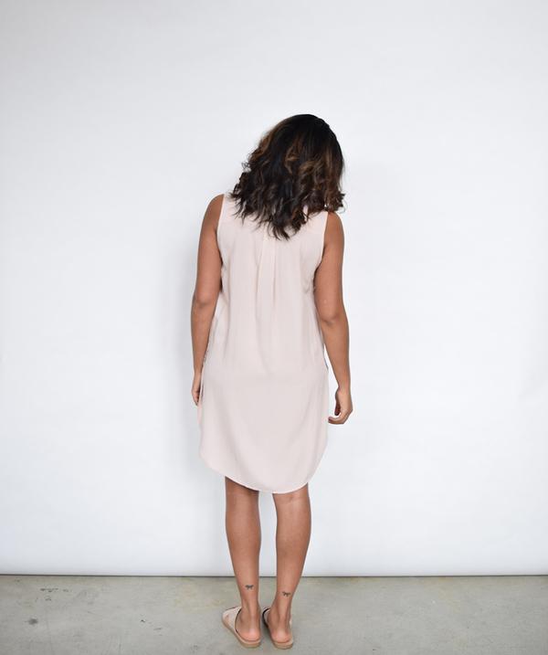 Lumiere Blush Shirt Dress