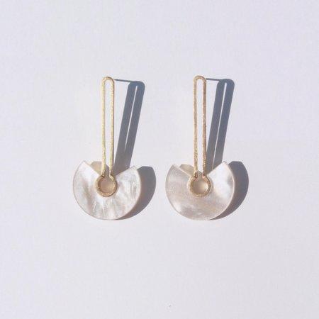 Metalepsis Projects Broken Circle Earrings