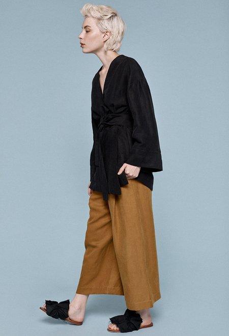 Milk & Thistle Kimono Wrap Jacket - Black