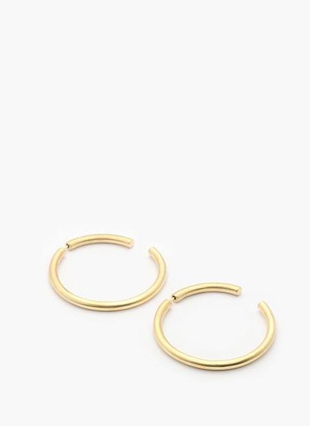 ADORN MOON EARRINGS (LARGE) - SOLID BRONZE