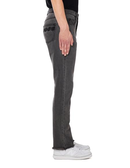 Enfants Riches Deprimes Logo Embroidered Jeans - Grey