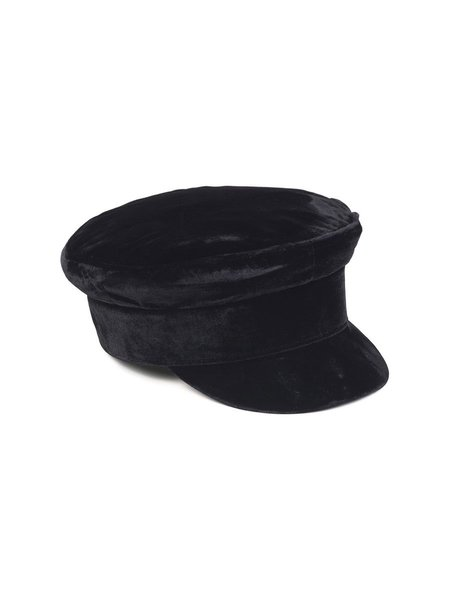 Lack of Color Velveteen Cap - Black