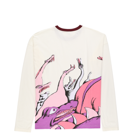 Marni Cotton Jersey Long Sleeve T-Shirt - Off White