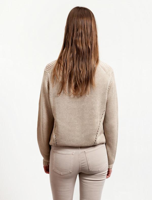 Acne Studios Womens Phora Chunky Sweater - Beige