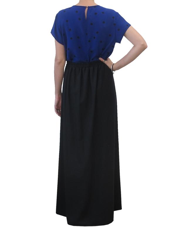 Ali Golden Navy Maxi Skirt