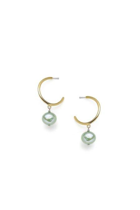 Nina Janvier Béatrice Earrings - Brass/Gree