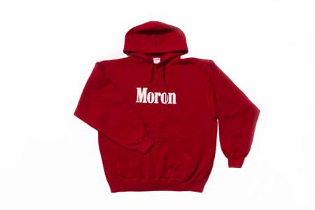 Guilt Moron Hoodie - red