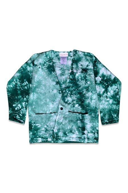 UNISEX SEEKER Lab Coat - Emerald Tie Dye
