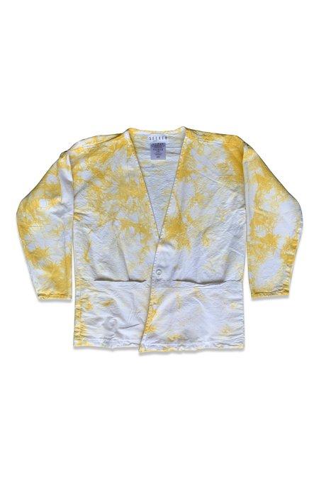 Unisex SEEKER Tie Dye Lab Coat - MUSTARD