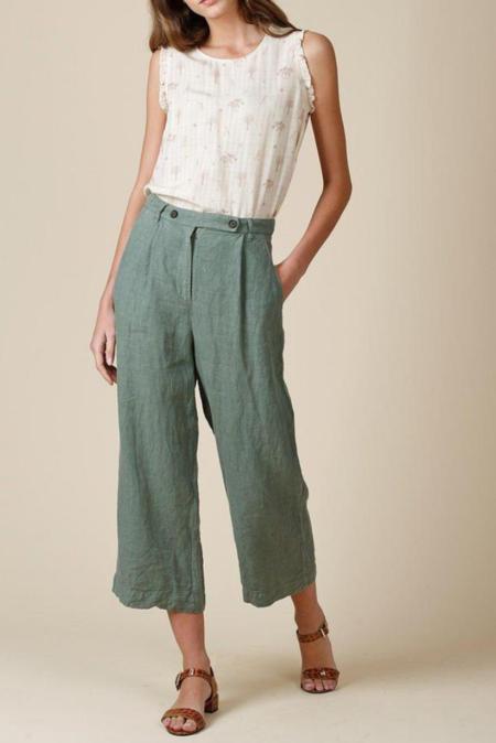 indi & cold Linen Pant - Khaki