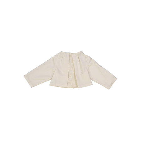 Kids Petit Mioche organic cotton lace blouse